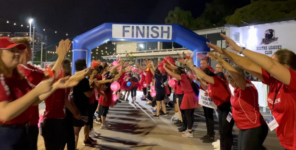 The finish line at the MS Moonlight Walk